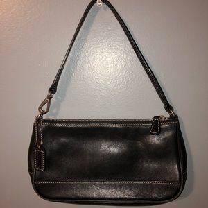 A black coach mini handbag!!